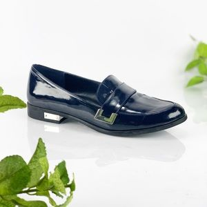 Marc Fisher Pagan Navy Blue Monk Strap Loafer